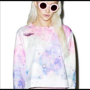 Wildfox Space Cadet Pop Art Sweater in Medium